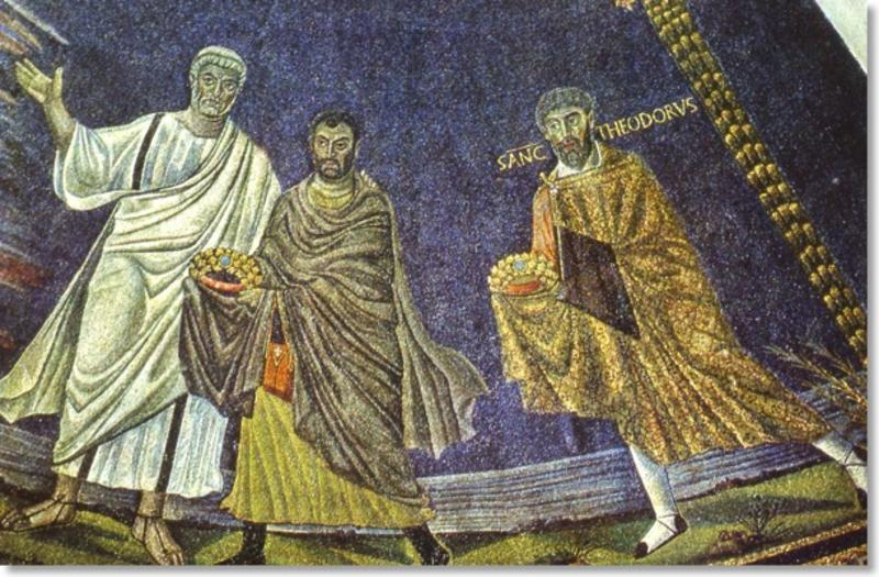 Fresco of saints in late antiquity